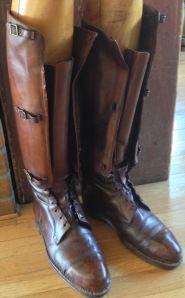 Pair of World War I Leather Aviator Boots.